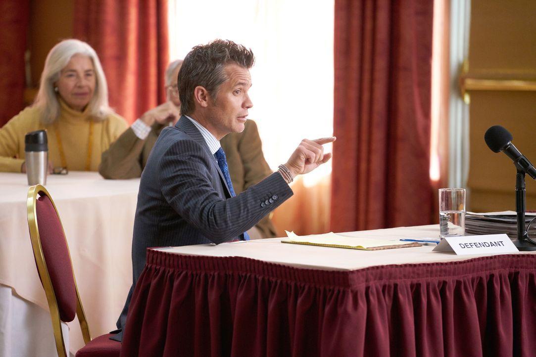 """Wie wird sich Timothy (Timothy Olyphant) in einem Prozess schlagen, der darüber entscheiden soll, ob er ein """"echterer"""" Anwalt ist oder Dean? - Bildquelle: 2015-2016 Fox and its related entities.  All rights reserved."""