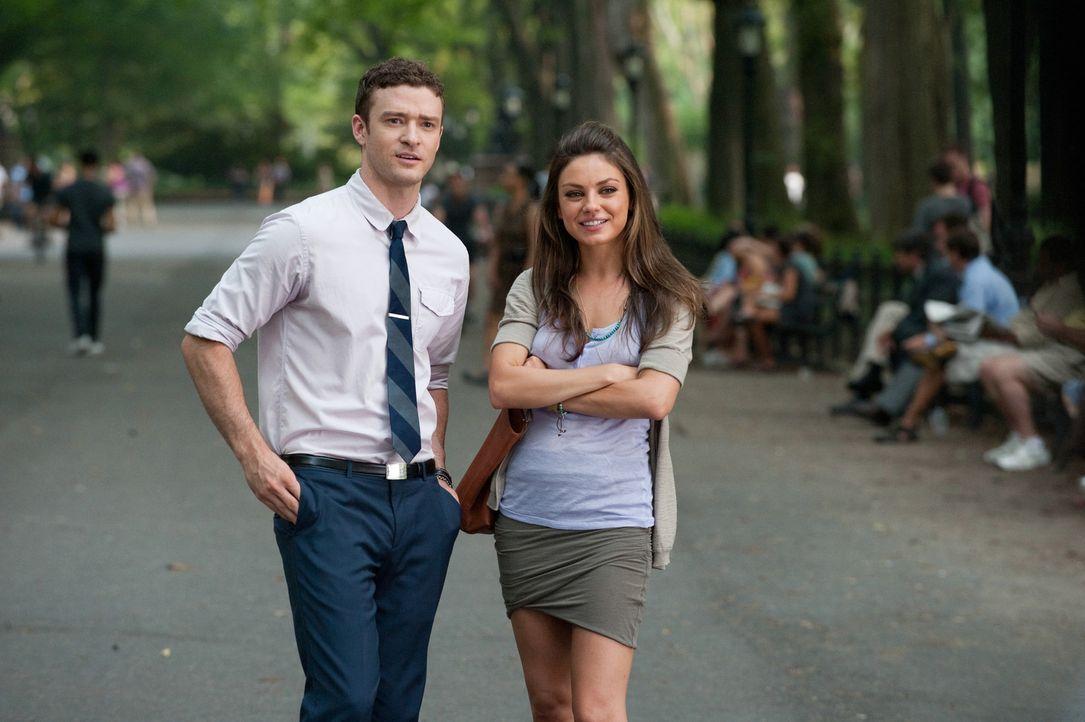 Dylan (Justin Timberlake, l.) und Jamie (Mila Kunis, r.) beschließen, Sex ohne jegliche Verpflichtungen zu haben. Zunächst scheint alles glatt zu... - Bildquelle: Sony Pictures Television Inc. All Rights Reserved.