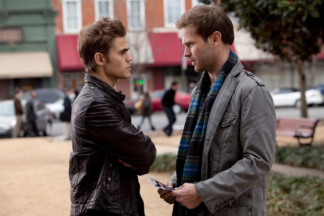 Alaric (Matthew Davis, r.) und Stefan (Paul Wesley, l.) arbeiten bei der Suche nach Isobel Hand in Hand ... - Bildquelle: Warner Bros. Television