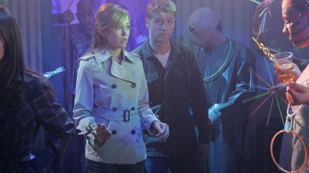 Ryan (Benjamin McKenzie, r.), Taylor (Autumn Reeser, l.), Seth und Summer fah...