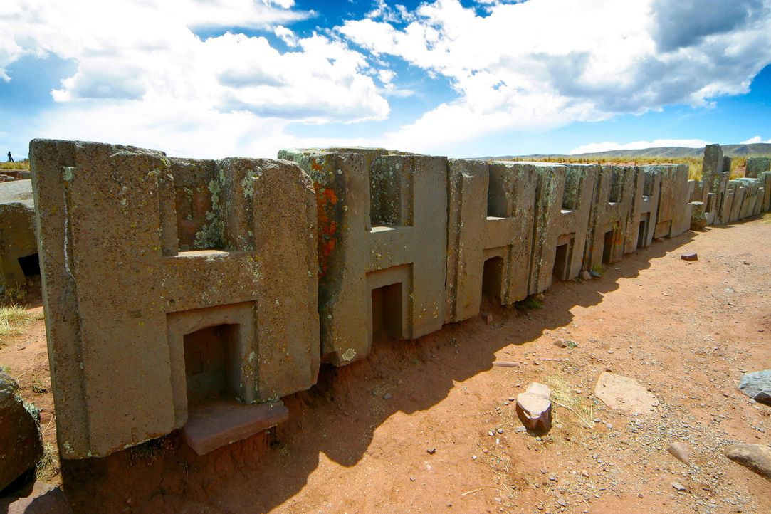 Ein Expertenteam untersucht die peruanischen Bauten von Puma Punku in Bolivien und präsentiert neue Computeranalysen. Können sie belegen, dass Außer... - Bildquelle: Tatjana Ingold