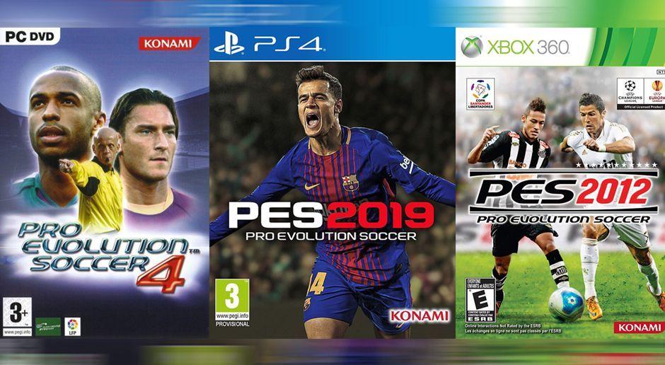 Alle PES-Cover  So präsentiert sich FIFA-Rivale Konami - Bildquelle  Konami cda96c3b5f13a