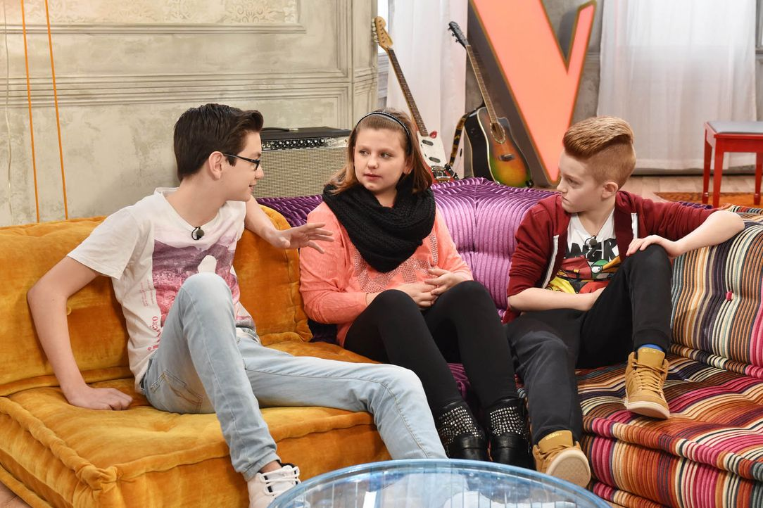 The-Voice-Kids-Stf03-Epi05-10-Samuel-Loredana-Lucas-S-SAT1-Andre-Kowalski - Bildquelle: SAT.1/ Andre Kowalski