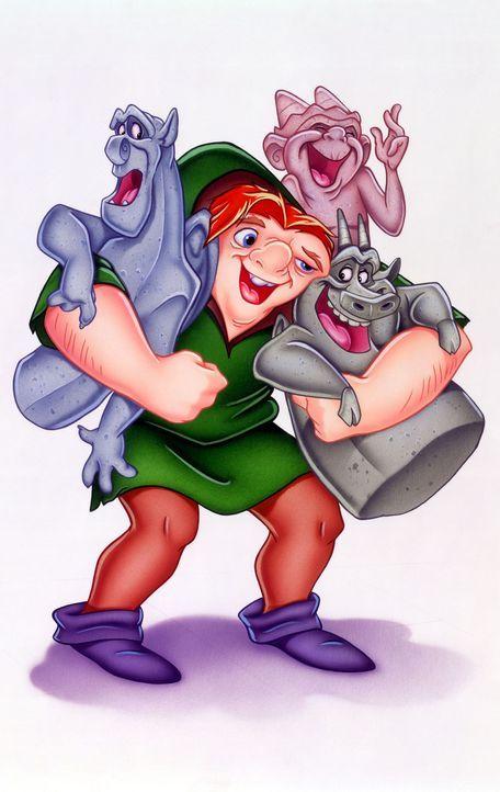 Die Wasserspeier sind Quasimodos beste Freunde. Eines Tages stacheln sie den unglücklichen Glöckner an, heimlich das Fest der Narren zu besuchen ... - Bildquelle: The Walt Disney Company