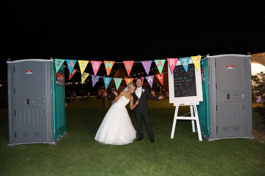 Sie wünscht sich eine kleine intime Feier, während er von einer Hochzeitssause im Festival-Stil träumt ... - Bildquelle: Renegade Pictures Ltd