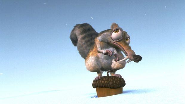 Eigentlich möchte Scrat doch nur in Ruhe seine Nuss genießen, doch er hat kei...