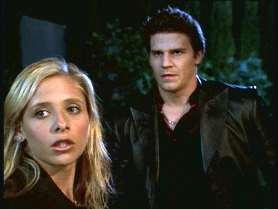 Buffy (Sarah Michelle Gellar, l.) und Angel (David Boreanaz, r.) müssen sich wieder einmal der Angriffe von Vampiren erwehren. - Bildquelle: TM +   2000 Twentieth Century Fox Film Corporation. All Rights Reserved.