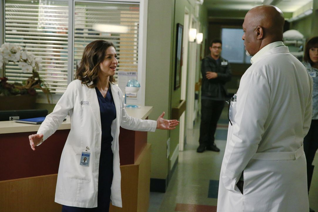 Amelia (Caterina Scorsone, l.) macht Richard (James Pickens, Jr, r.) und einigen anderen Kollegen Sorgen, da sie vor ihren Gefühlen davon läuft und... - Bildquelle: ABC Studios