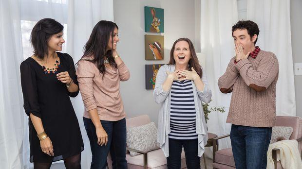 Alana (l.) und Lex (r.) wollen Billy (r.) und seiner schwangeren Frau Devon (...