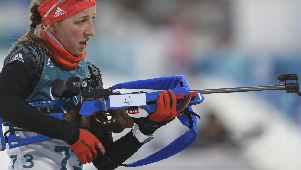 Franziska Preuß mit viertem Platz im Biathlon-Einzel - Bildquelle: AFPSIDCHRISTOF STACHE