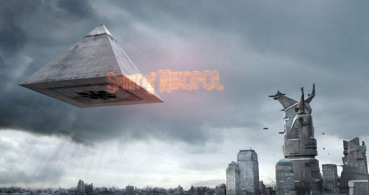 Während Horus auf der verzweifelten Suche nach einem brauchbaren Körper ist, düsen die gestrengen Götter in einer Pyramide über Manhattan, schm... - Bildquelle: TF1 Films Productions