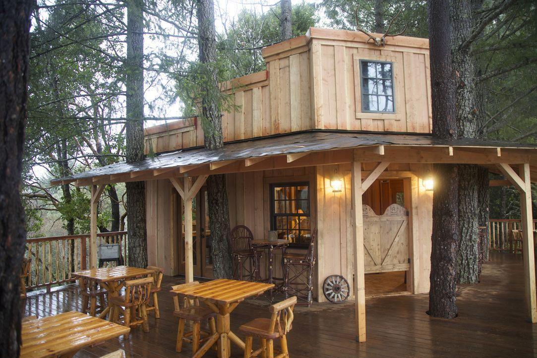 Die Boltz-Familie wünscht sich einen Baumhaus-Saloon, um mit ihren Gästen den Blick über ihre Weinberge genießen zu können. Werden die Baumhaus-Held... - Bildquelle: 2016, DIY Network/Scripps Networks, LLC. All Rights Reserved.