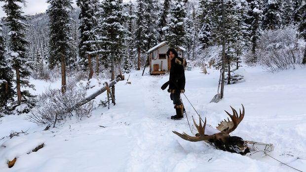 Wechselnde Wetterbedingungen machen es zu einer Tortur, sich in Alaska in den...