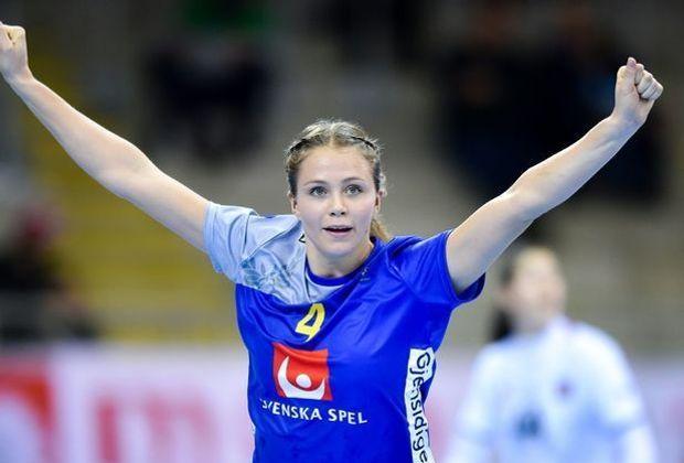 Im Achtelfinale: Olivia Mellegard und ihre Schwedinnen