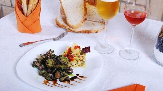 gedeckter Tisch-Gemüse