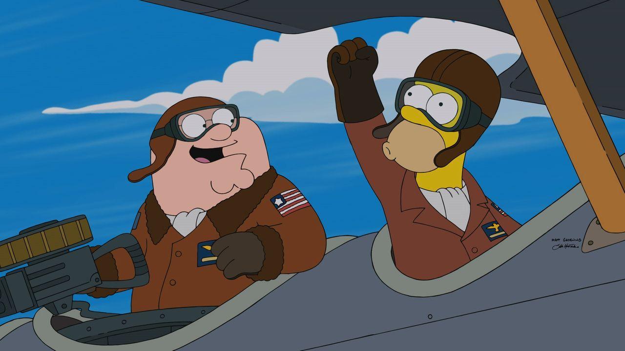 Verbringen eine besondere Zeit zusammen: Homer (r.) und Peter (l.) ... - Bildquelle: 2015-2016 Fox and its related entities. All rights reserved.