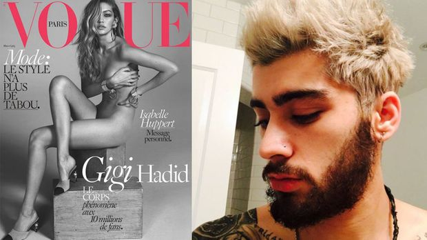 one direction star zayn malik nackte gigi hadid als wohnungsdeko prosieben. Black Bedroom Furniture Sets. Home Design Ideas