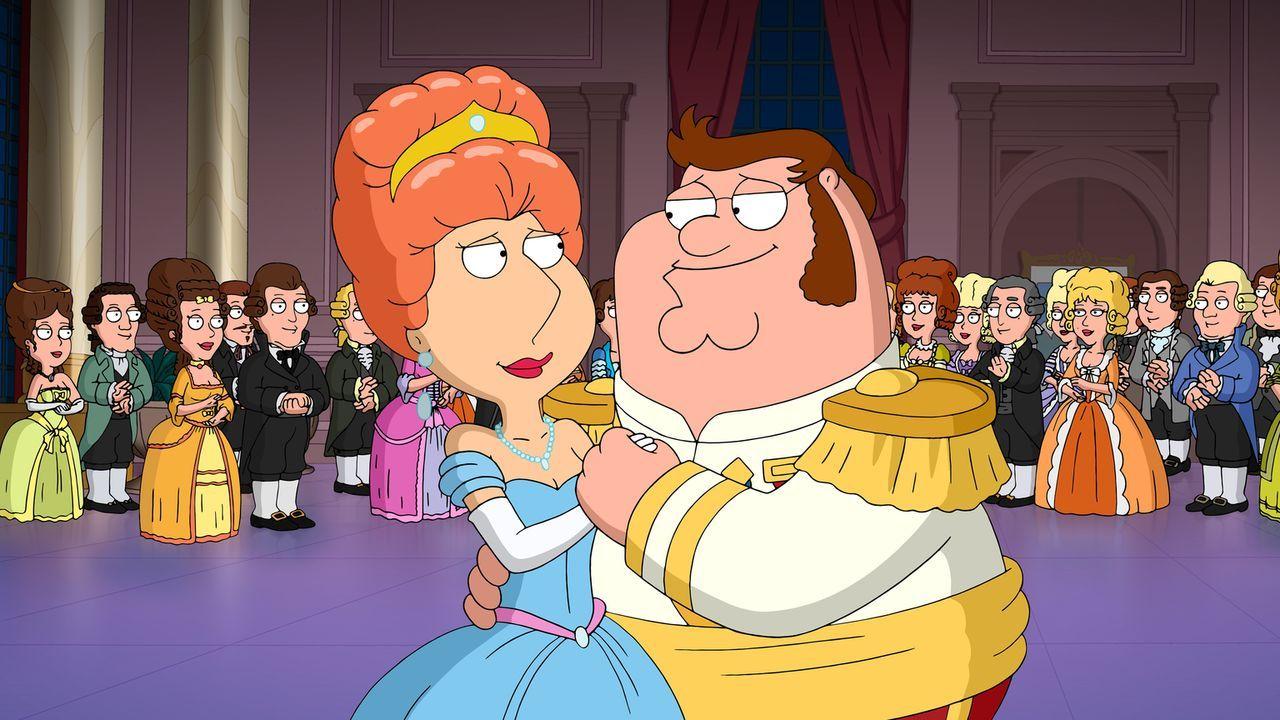 Peter (r.) erzählt Stewie das Märchen von Aschenbrödel - in dem natürlich die Familie unter anderem Lois (l.) auch vorkommt ... - Bildquelle: 2014 Twentieth Century Fox Film Corporation. All rights reserved.