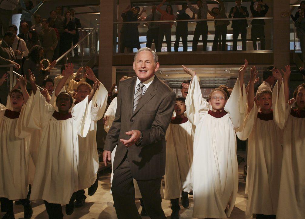 In einer seiner Visionen sieht Eli plötzlich seinen Boss Jordan (Victor Garber, M.) inmitten eines Chors tanzen ... - Bildquelle: Disney - ABC International Television