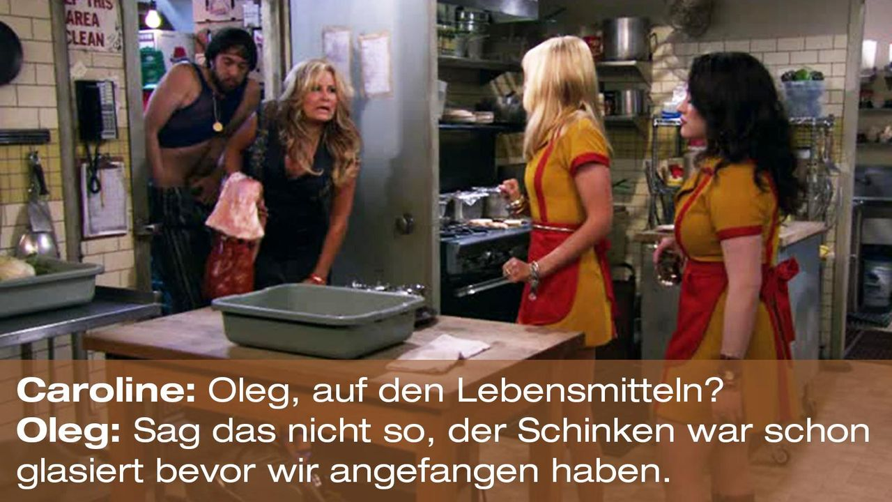 2-broke-girls-zitat-staffel1-episode-22-buttercreme-blamage-caroline-oleg-schinken-warnerpng 1600 x 900 - Bildquelle: Warner Brothers Entertainment Inc.