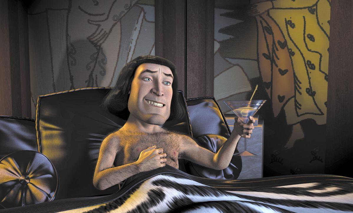 Ein Macho, wie er im Buche steht: Der machthungrige Lord Farquaad (Bild) möchte gerne König des Landes werden. Dazu braucht er eine Prinzessin, di... - Bildquelle: TM &   2001 DreamWorks L.L.C.
