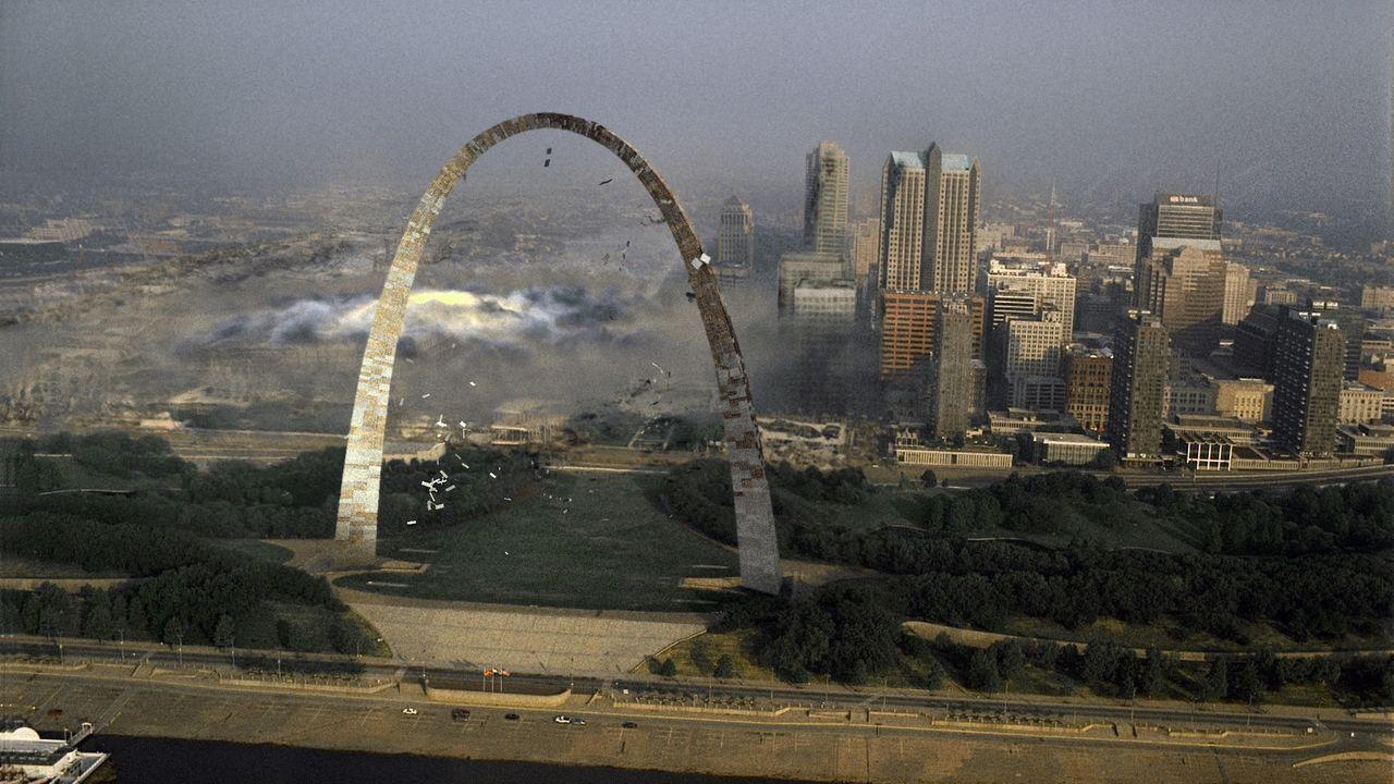 St. Louis in Gefahr. Ein schwarzes Loch droht die Stadt zu verschlingen ... - Bildquelle: 2005 EQUITY PICTURES MEDIENFONDS GmbH & Co. KG III.  ALL RIGHTS RESERVED.