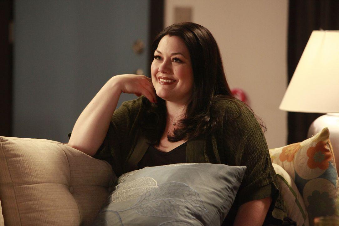 Erlebt eine ganz besondere Überraschung: Jane (Brooke Elliott) ... - Bildquelle: 2009 Sony Pictures Television Inc. All Rights Reserved.