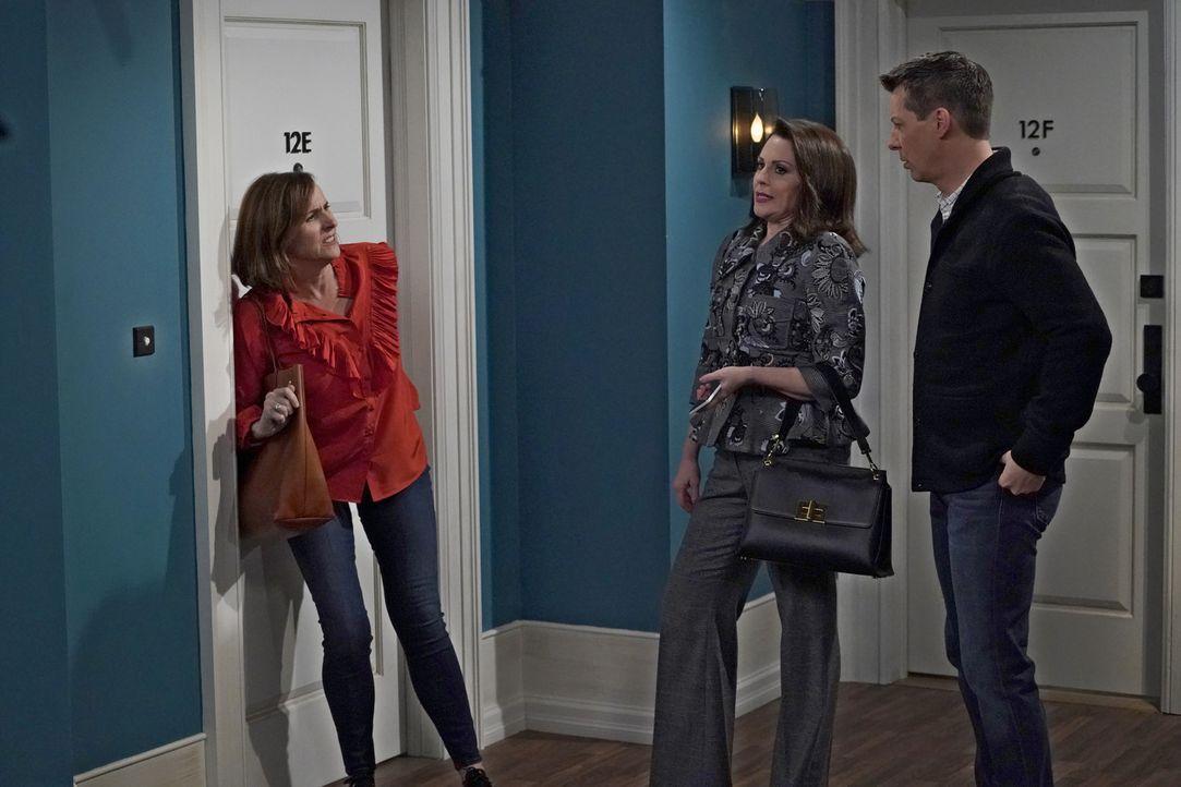 Wie weit würde Val (Molly Shannon, l.) gehen, um Karen (Megan Mullally, M.) und Jack (Sean Hayes, r.) zu ihren Freunden zu machen? - Bildquelle: Chris Haston 2017 NBCUniversal Media, LLC