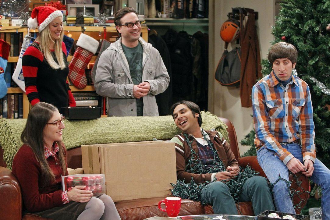 Sind sich sicher - ohne Sheldon würde in ihrem Leben etwas fehlen: Howard (Simon Helberg, r.), Amy (Mayim Bialik, l.), Leonard (Johnny Galecki, M.),... - Bildquelle: Warner Bros. Television