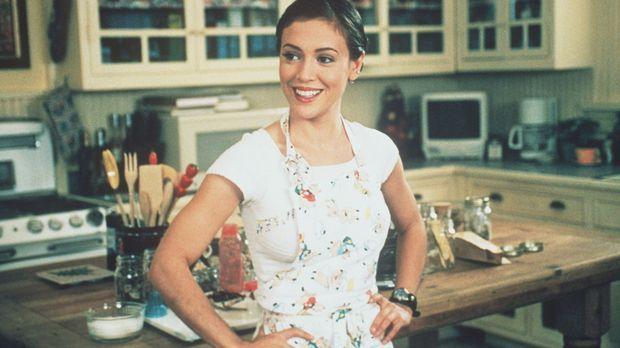 Kaum zu glauben: Phoebe (Alyssa Milano) findet die Fähgikeiten der Schimpanse...