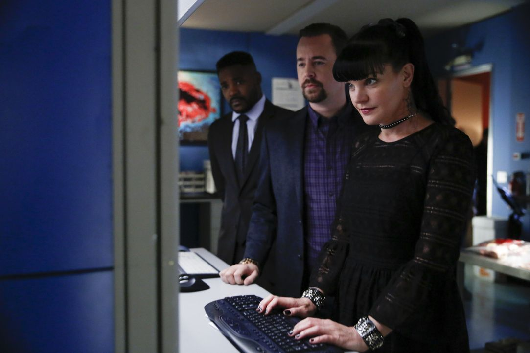 (v.l.n.r.) Clayton Reeves (Duane Henry); McGee (Sean Murray); Abby (Pauley Perrette) - Bildquelle: Cliff Lipson 2017 CBS Broadcasting, Inc. All Rights Reserved/Cliff Lipson
