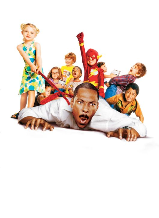 Der Kindergarten Daddy - Artwork: Der arbeitslose Werbeprofi Charlie (Eddie Murphy, unten) schult zum Erzieher um und hat dabei alle Hände voll zu... - Bildquelle: 2004 Sony Pictures Television International. All Rights Reserved.