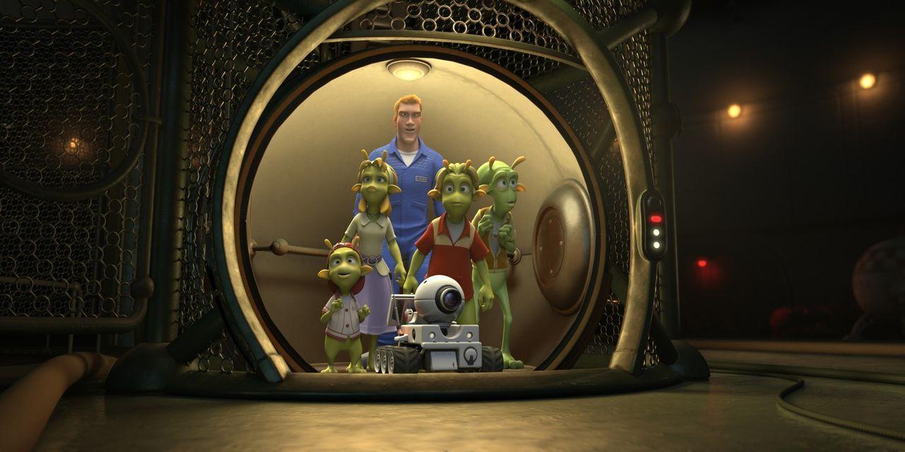 "Astronaut Captain Charles ""Chuck"" Baker betritt als erstes Lebewesen den Planeten 51 - glaubt er! Doch er muss feststellen, dass der Planet von klei... - Bildquelle: 2009 Columbia TriStar Marketing Group, Inc.  All Rights Reserved."