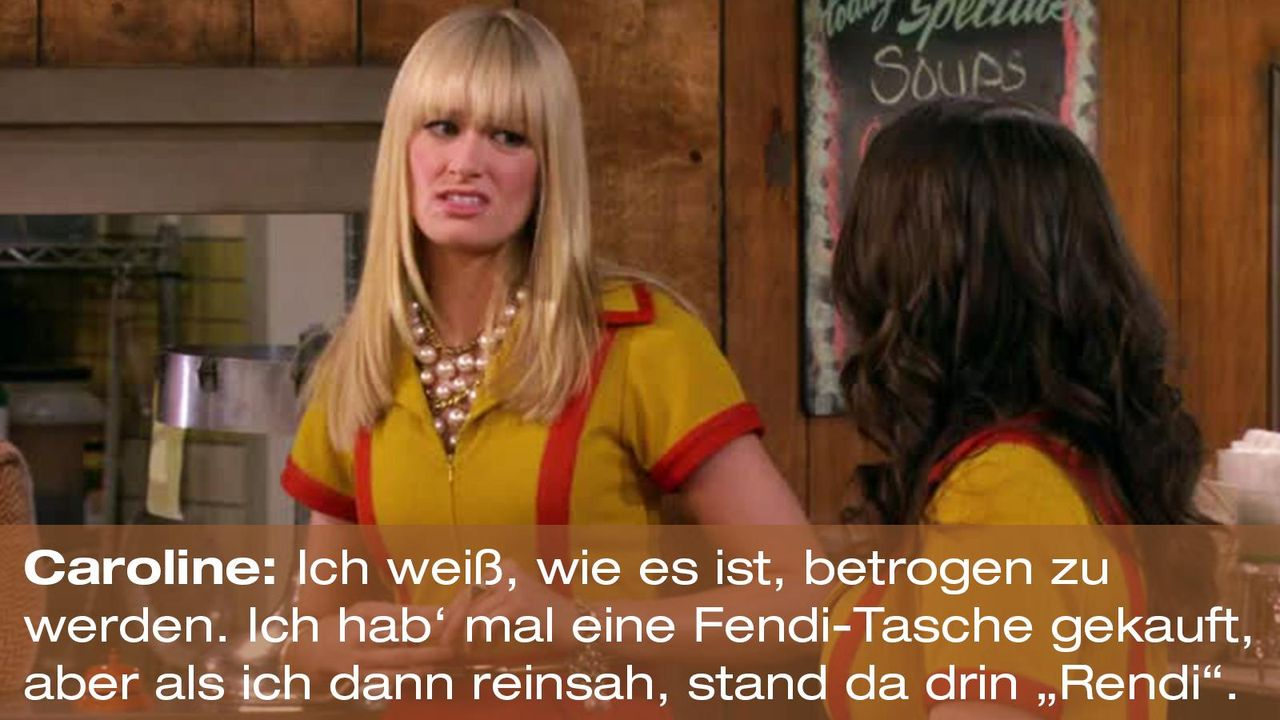2-broke-girls-zitat-quote-staffel2-episode11-geschaeftspartnerin-caroline-rendi-warnerpng 1600 x 900 - Bildquelle: Warner Bros. International Television