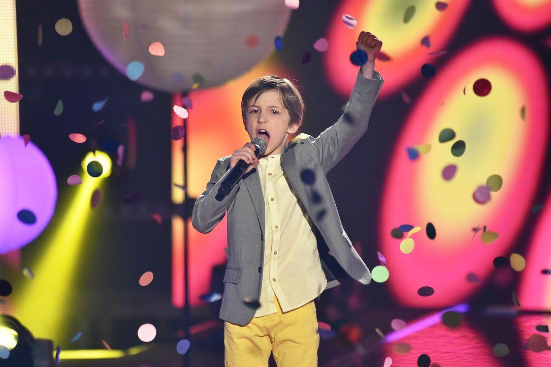 The-Voice-Kids-Stf03-Finale-Probe-75-Nestor-SAT1-Andre-Kowalski - Bildquelle: SAT.1/ Andre Kowalski