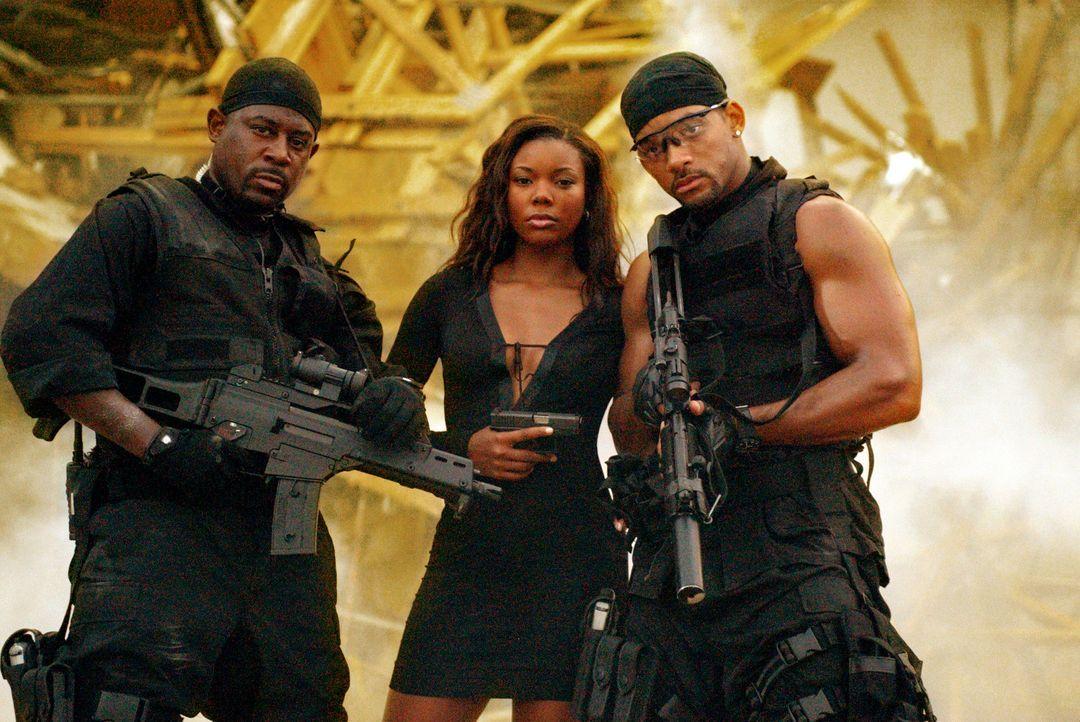 Das freundschaftliche Arbeitsverhältnis von Mike (Will Smith, r.) und Marcus (Martin Lawrence, l.) wird auf eine harte Probe gestellt, als sich Mik... - Bildquelle: 2004 Sony Pictures Television International. All Rights reserved.