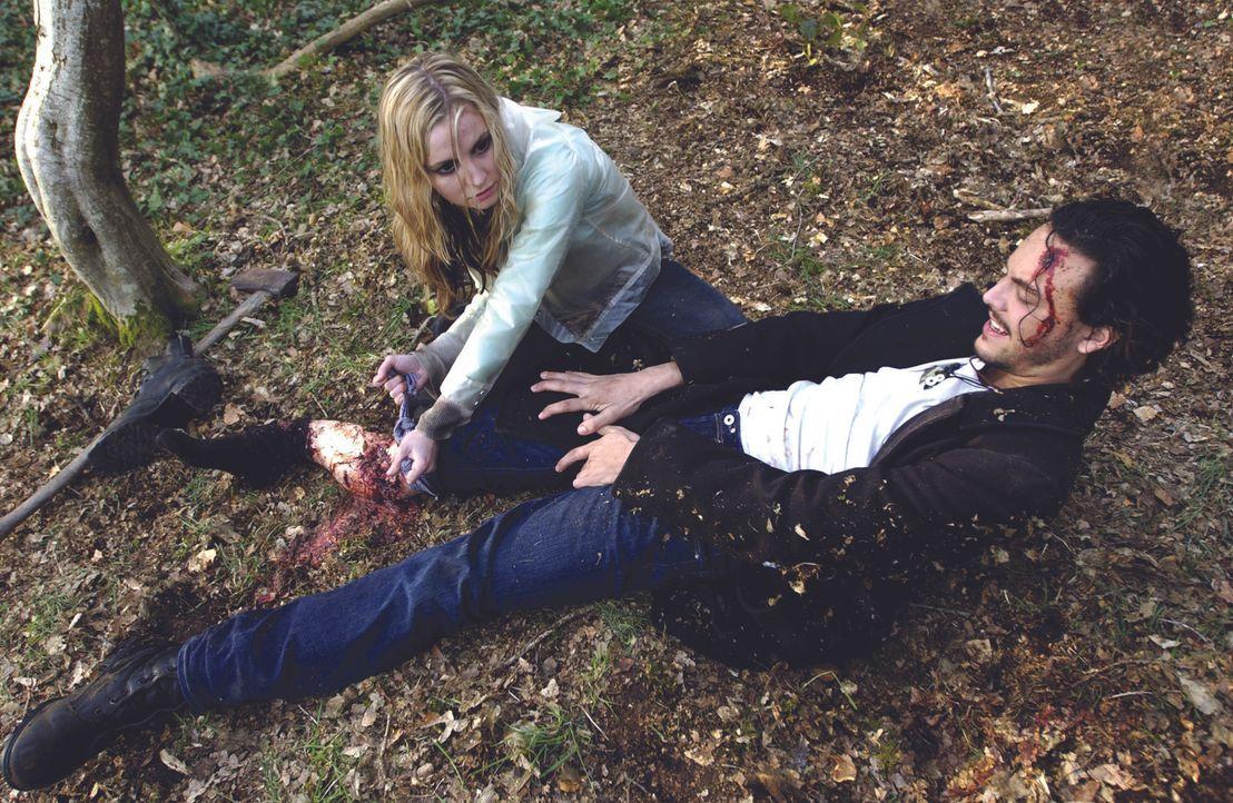 Nach dem Genuss von bewusstseinserweiternden Pilzen geraten Jakes (Jack Huston, r.) und Tara (Lindsey Haun, l.) in einen Strudel aus Gewalt. Doch wa...