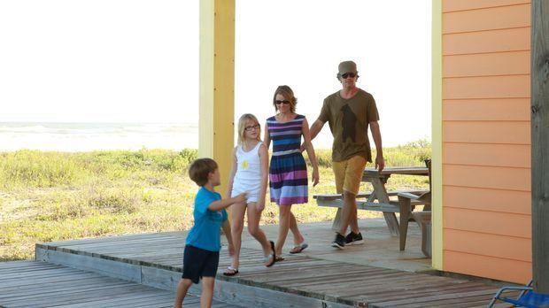 Familie Johnson sucht nach einem Ferienhaus am Strand von Galveston, doch fin...