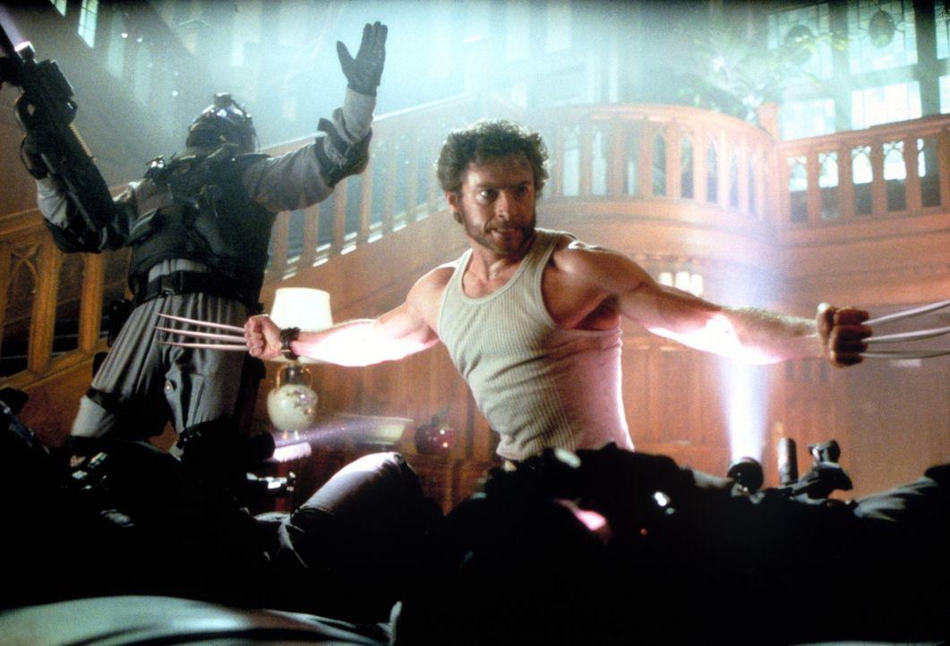 Versucht alles, um Stryker zu stoppen, der die Weltherrschaft an sich reißen möchte: Wolverine (Hugh Jackman) ... - Bildquelle: 20th Century Fox International Television