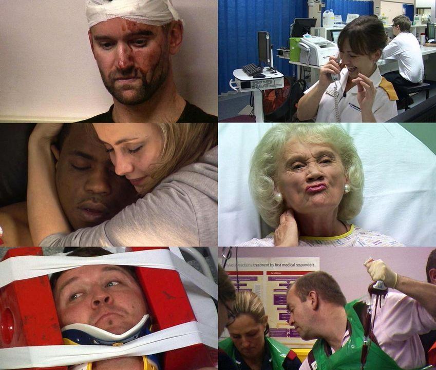 Geschichten, die das Leben schreibt: 70 Kameras fangen den spannenden und dramatischen Alltag der Notaufnahme im King College Hospital in London ein. - Bildquelle: Sixx / Shine International