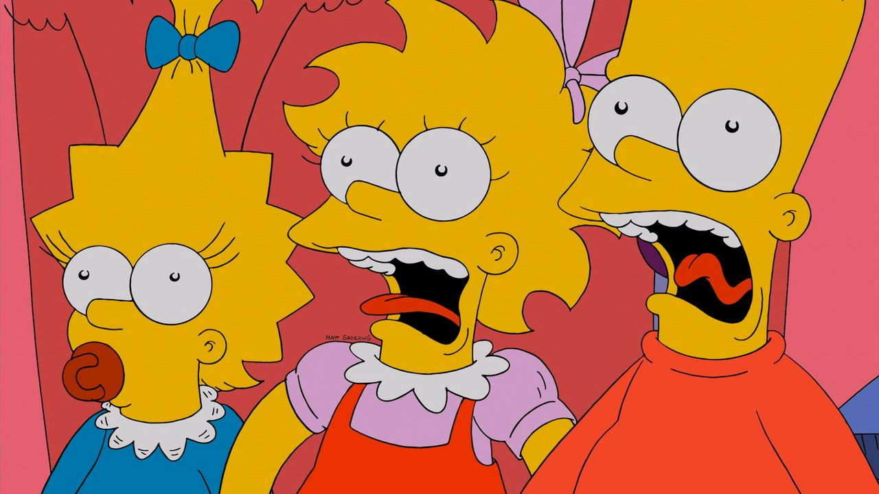 Halloween-Horror bei den Simpsons: Maggie (l.), Lisa (M.) und Bart (r.) ... - Bildquelle: 2013 Twentieth Century Fox Film Corporation. All rights reserved.