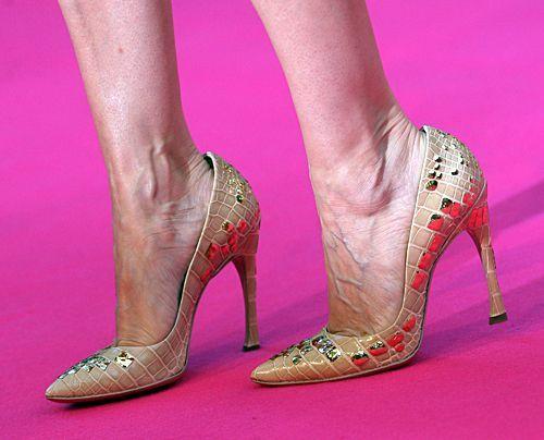 Die High Heels von Sarah Jessica Parker... - Bildquelle: Jens Kalaene dpa