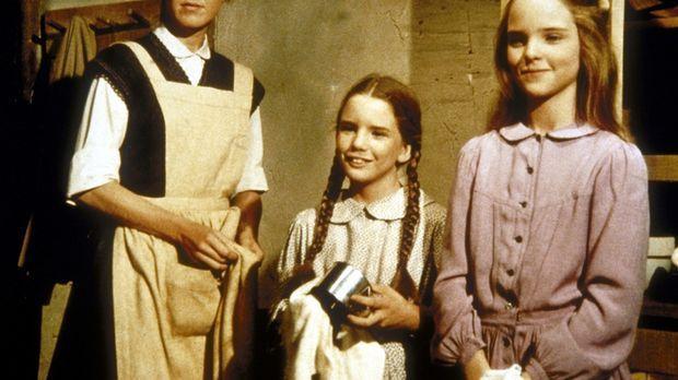 (v.l.n.r.) Caroline (Karen Grassle), Laura (Melissa Gilbert) und Mary (Meliss...