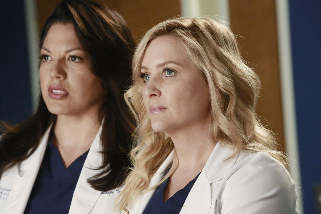 Arizona (Jessica Capshaw, r.) trifft auf eine interessante Chirurgin. Als es zwischen den beiden zu knistern beginnt, führt sie sich wieder ihre gl... - Bildquelle: ABC Studios