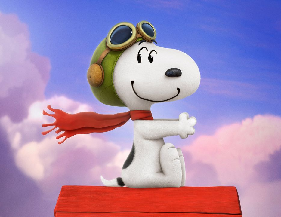 Snoopy träumt sich immer wieder in eine andere Welt, in der er als heldenhafter Pilot um die Liebe und gegen seinen Erzfeind kämpft. - Bildquelle: 2015 Twentieth Century Fox Film Corporation.  All rights reserved.  PEANUTS   2015 Peanuts Worldwide LLC.