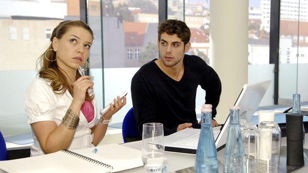 Ohne Annas Hilfe und auf sich selbst gestellt, fällt Katja im Meeting nichts...