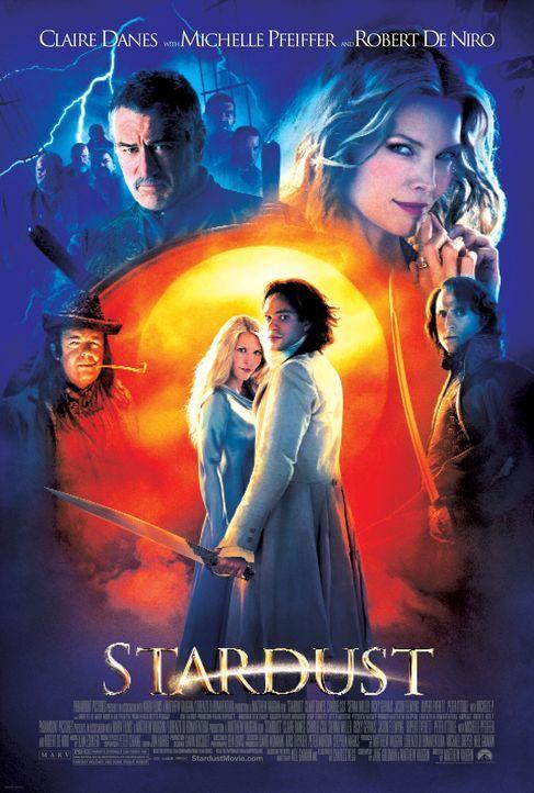 Eine gefallene Sternschnuppe (Claire Danes, M.l.), ein mutiger Junge (Charlie Cox, M.r.), eine böse Hexe (Michelle Pfeiffer, hinten r.) und ein guth... - Bildquelle: 2006 Paramount Pictures. All Rights Reserved.