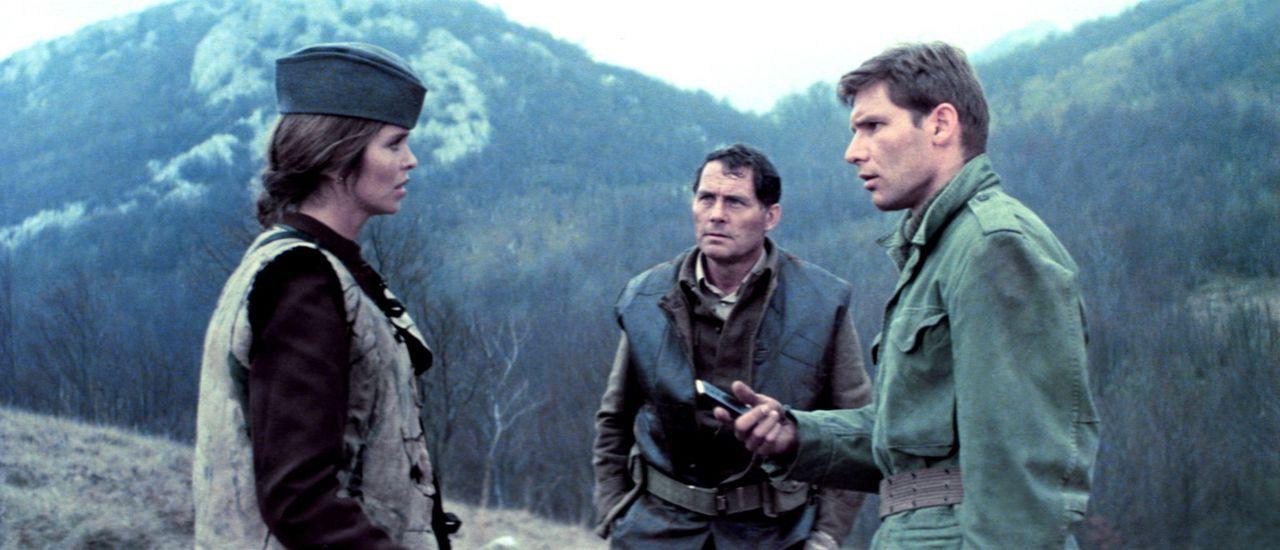 Die ortskundige Partisanin Maritza (Barbara Bach, l.) konnte Mallory (Robert Shaw, M.) und Barnsby (Harrison Ford, r.) aus den Händen serbischer Fr... - Bildquelle: Columbia Pictures