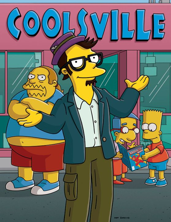 Zur Freude von Bart (r.) und Milhouse (2.v.r.) eröffnet Milo (M.) einen neuen Comic-Laden in Springfield ... - Bildquelle: 2007 Twentieth Century Fox Film Corporation. All rights reserved.