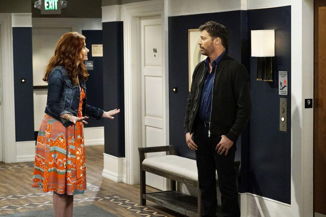 Als Leo (Harry Connick Jr., r.) erkennt, dass seine Beziehung zu Grace (Debra Messing, l.) scheinbar immer unter einem schlechten Stern stand, sorgt... - Bildquelle: Chris Haston 2017 NBCUniversal Media, LLC